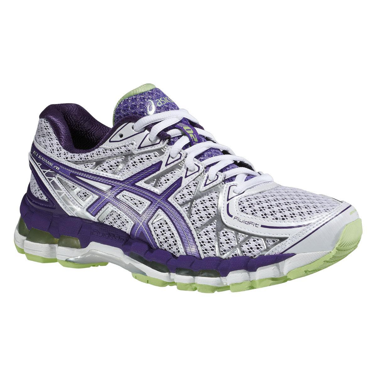 asics womens gel kayano 20 running shoes white purple. Black Bedroom Furniture Sets. Home Design Ideas