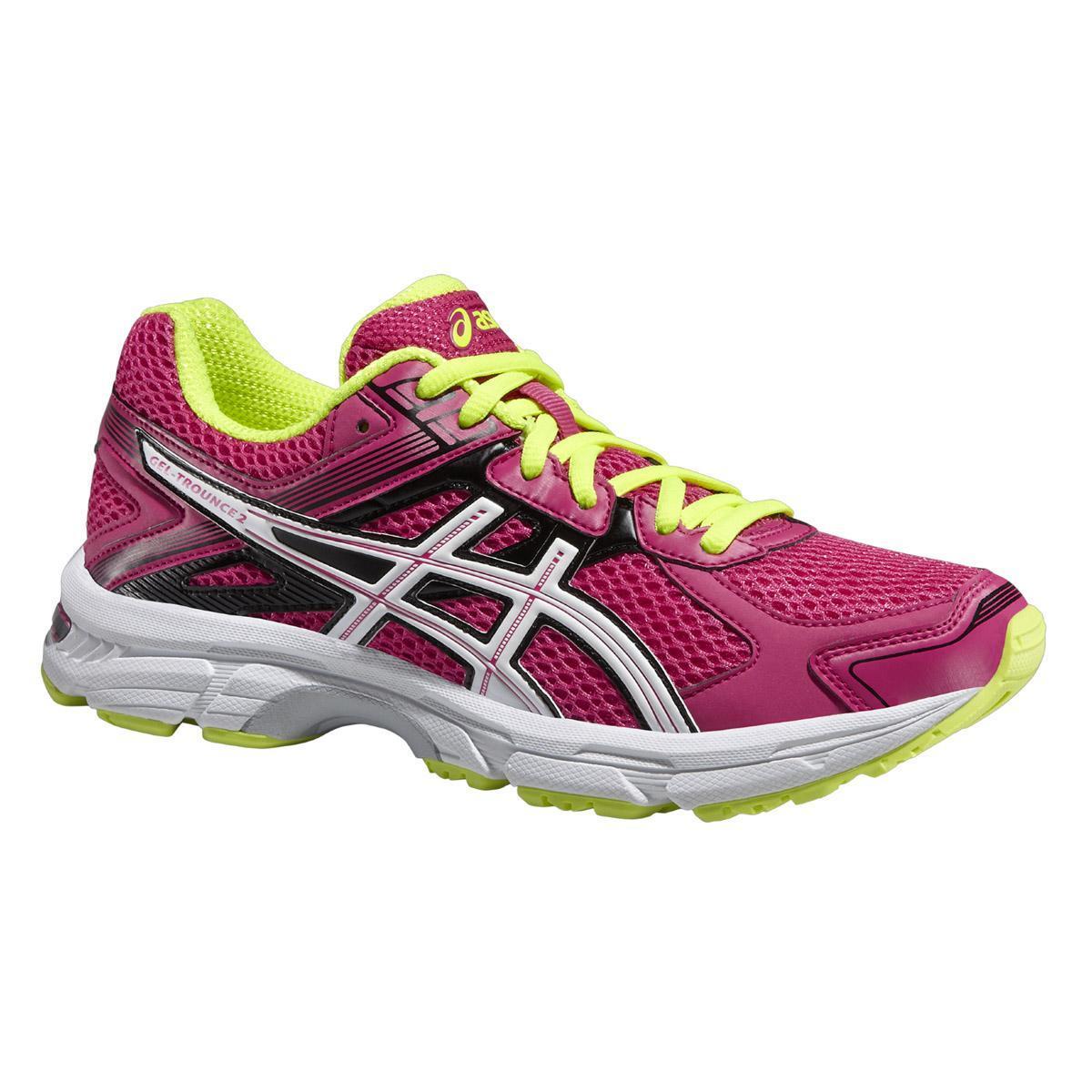 new style 40522 9933c Asics Womens GEL Trounce 2 Running Shoes - Hot Pink White Yellow -  Tennisnuts.com