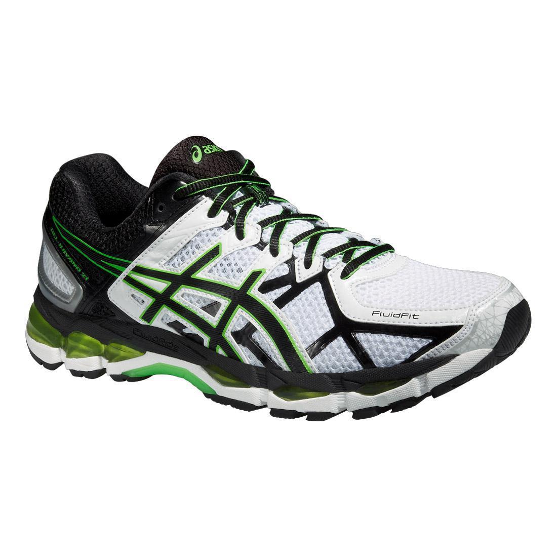 Asics Mens GEL-Kayano 21 Running Shoes - White/Black