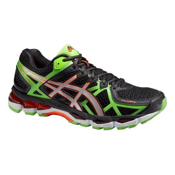 the latest 39f5e 193e5 Asics Mens GEL-Kayano 21 (2E) Running Shoes - Black Green - Tennisnuts.com