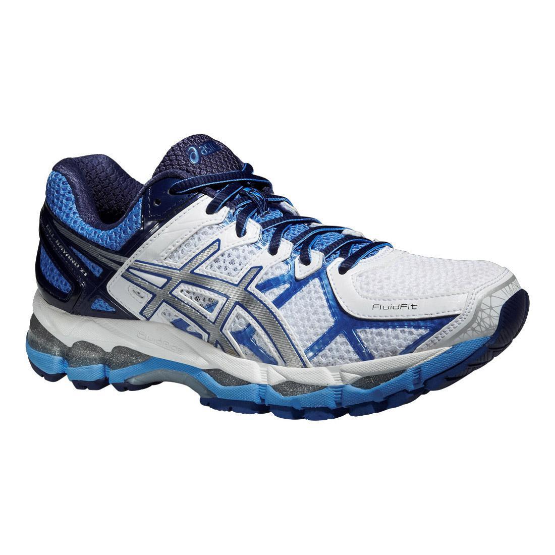 promo code 05551 1dc37 Asics Womens GEL-Kayano 21 Running Shoes - White Blue - Tennisnuts.com