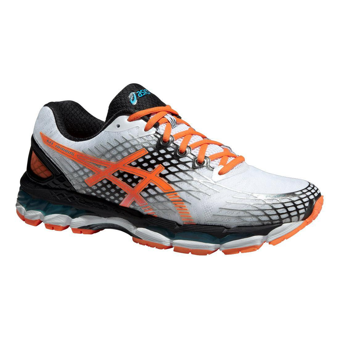 asics mens gel nimbus 17 running shoes white orange. Black Bedroom Furniture Sets. Home Design Ideas