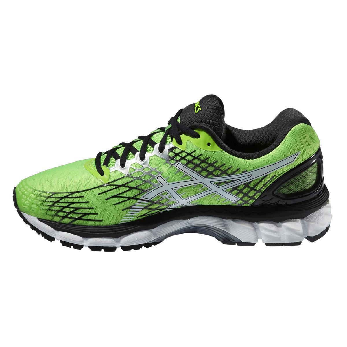 asics mens gel nimbus 17 4e running shoes flash green. Black Bedroom Furniture Sets. Home Design Ideas
