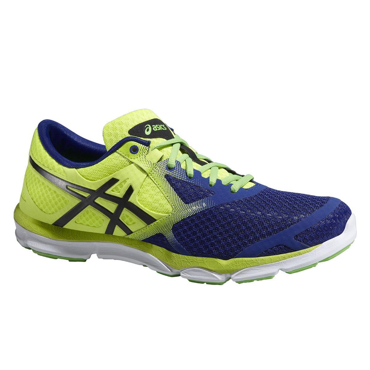 4edc1571e6397 Asics Mens 33-DFA Running Shoes - Deep Blue/Onyx/Flash Yellow -  Tennisnuts.com