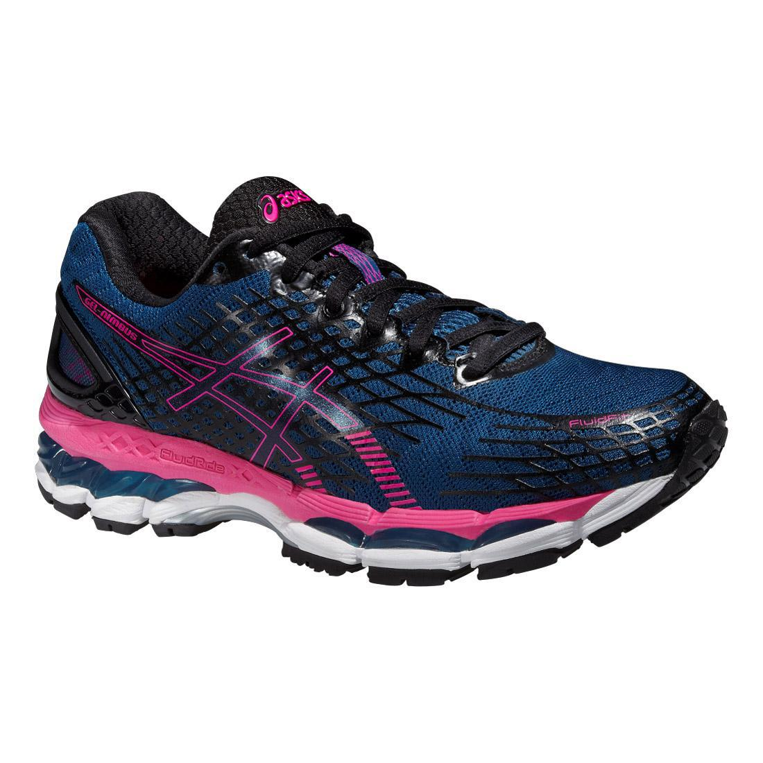 Asics Womens GEL Nimbus 17 Running Shoes Mosaic BluePink
