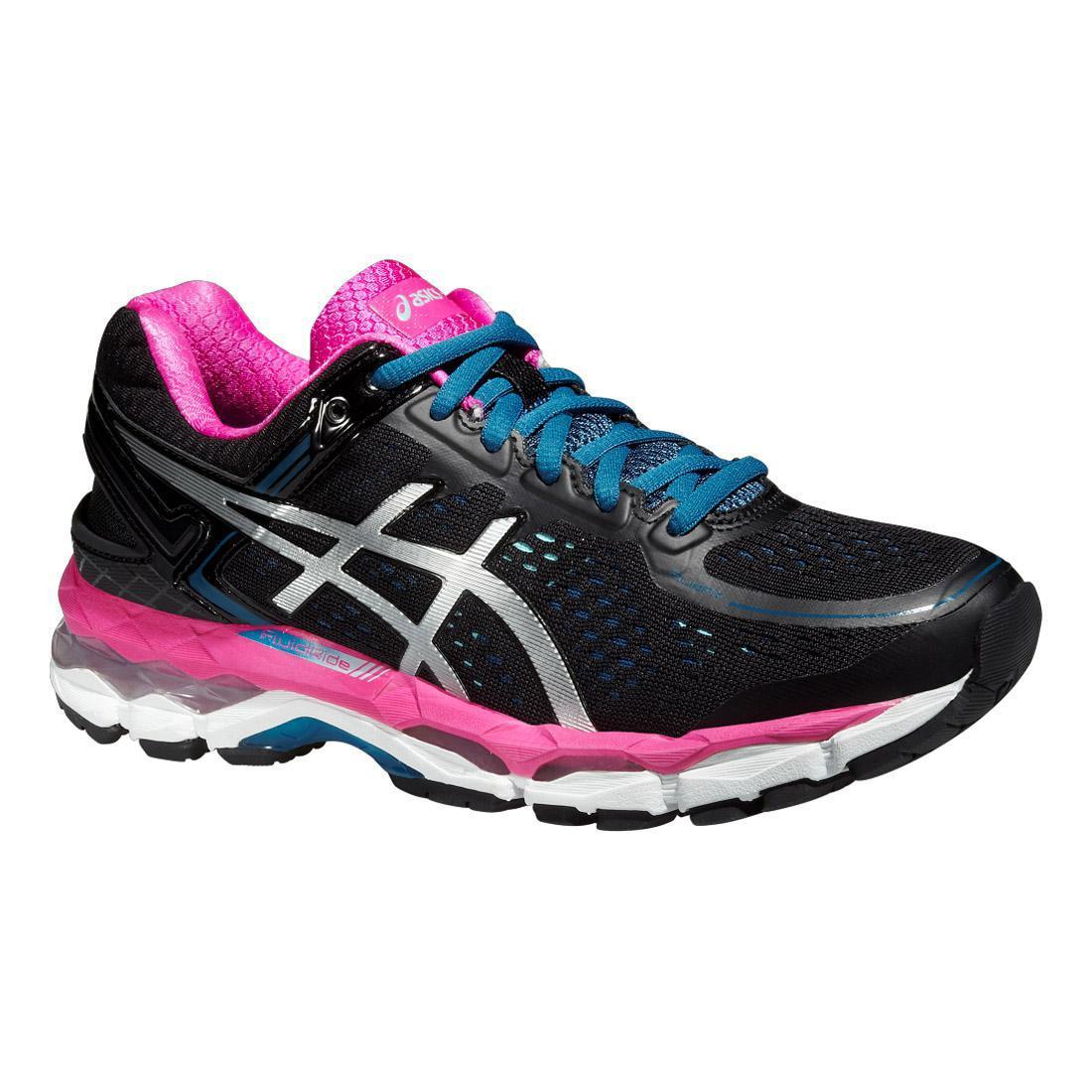 Asics Womens GEL-Kayano 22 Running Shoes - Black/Pink