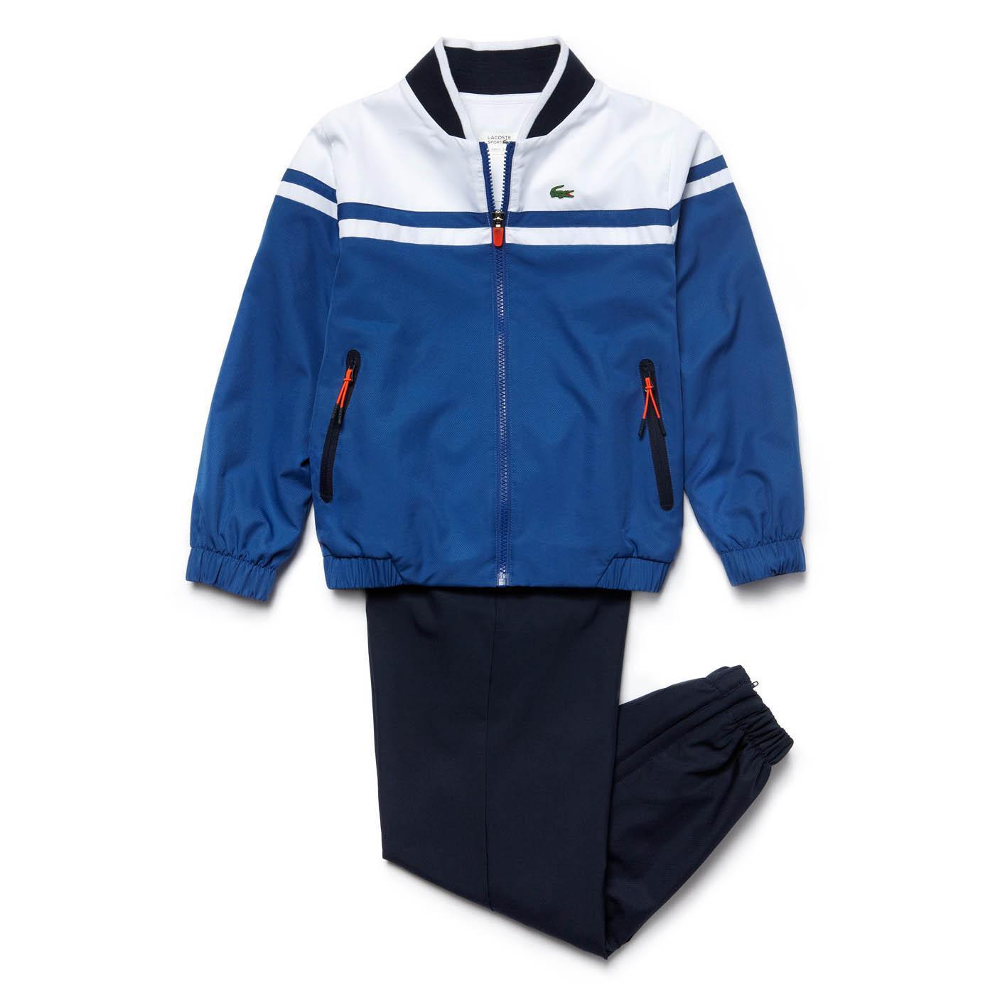 7b21fa96d Lacoste Sport Boys Tracksuit - Blue/White/Navy - Tennisnuts.com