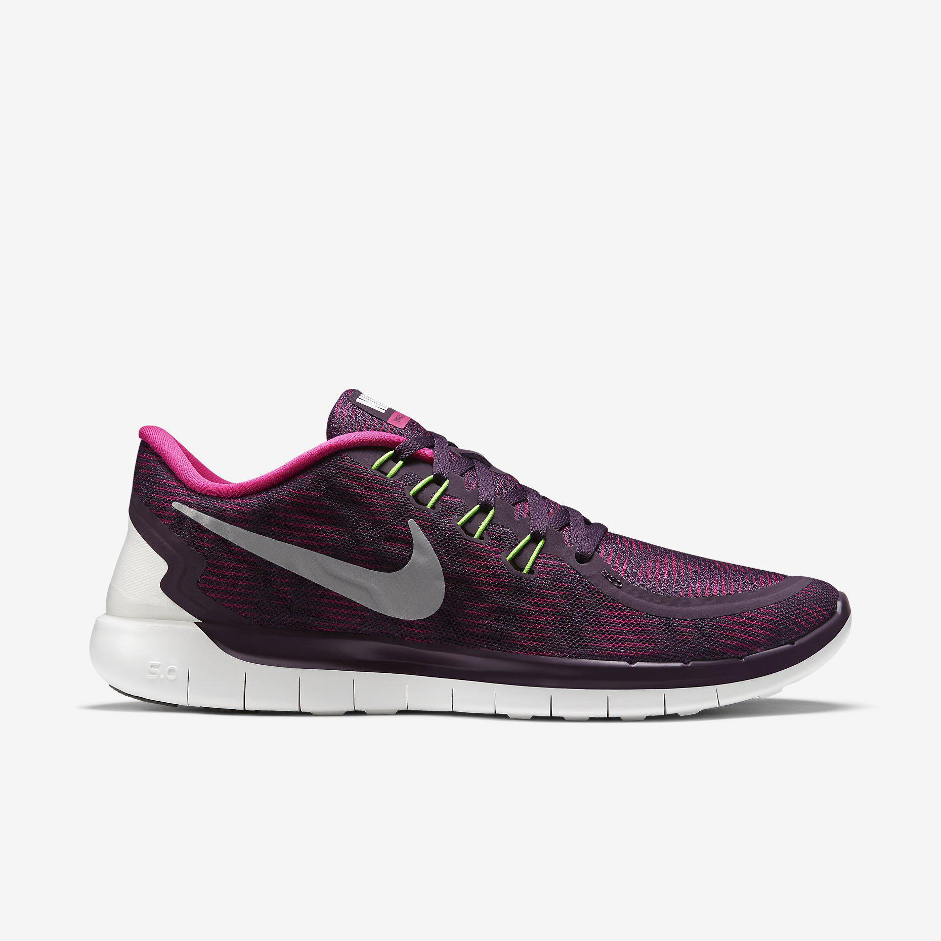 8780502ecd92 Nike Womens Free 5.0+ Print Running Shoes - Purple Pink - Tennisnuts.com