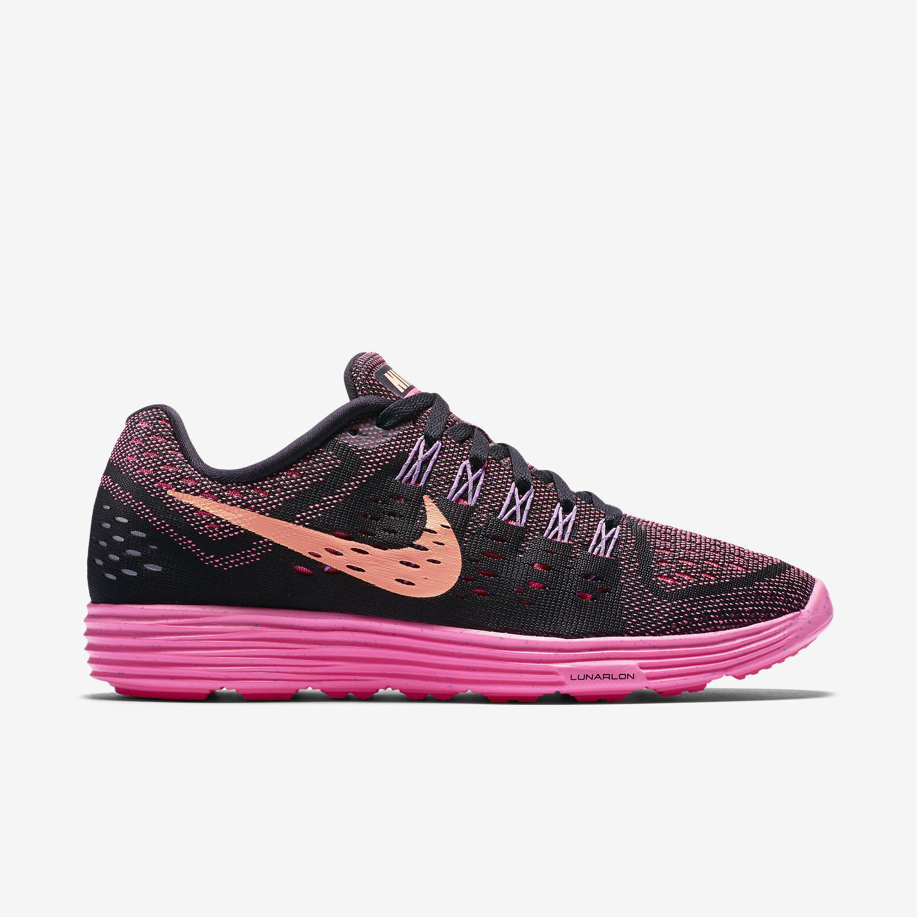 Nike Womens LunarTempo Running Shoes - Black/Pink Pow