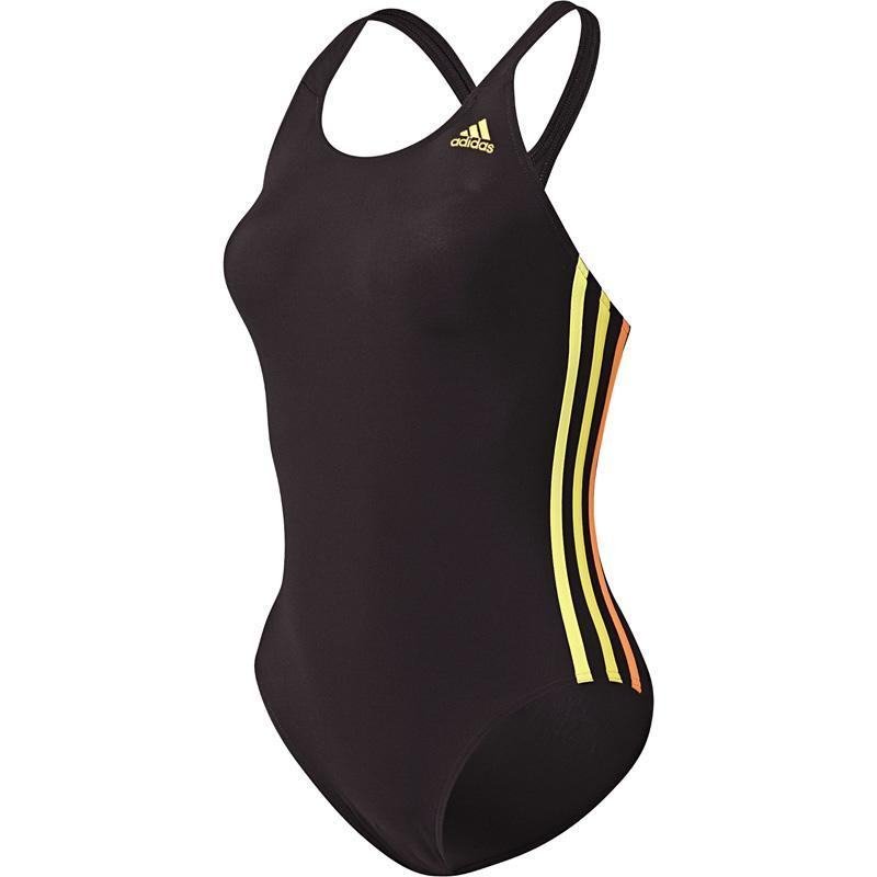 Adidas womens 3 stripes authentic one piece swimsuit for Decathlon costumi piscina bambina
