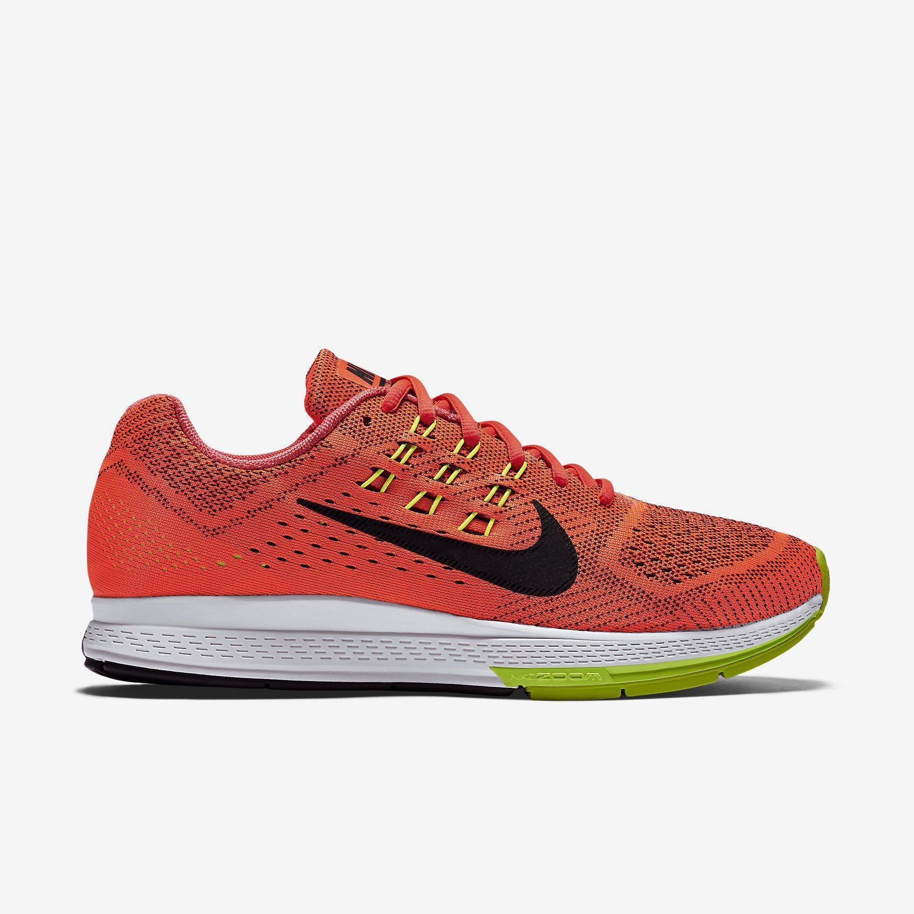 best website 5284f b2b5d Nike Mens Air Zoom Structure 18 Running Shoes - Bright Crimson Black -  Tennisnuts.com