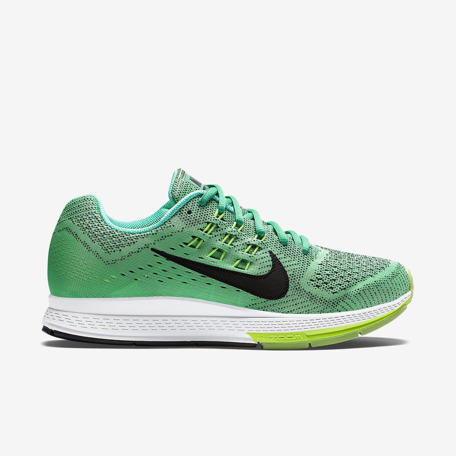 wholesale dealer fda78 8a277 Nike Womens Air Zoom Structure 18 Running Shoes - Menta Green -  Tennisnuts.com