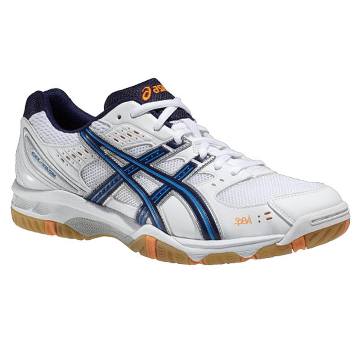 Asics Mens GEL Task Indoor SquashBadminton Shoes WhiteNavy