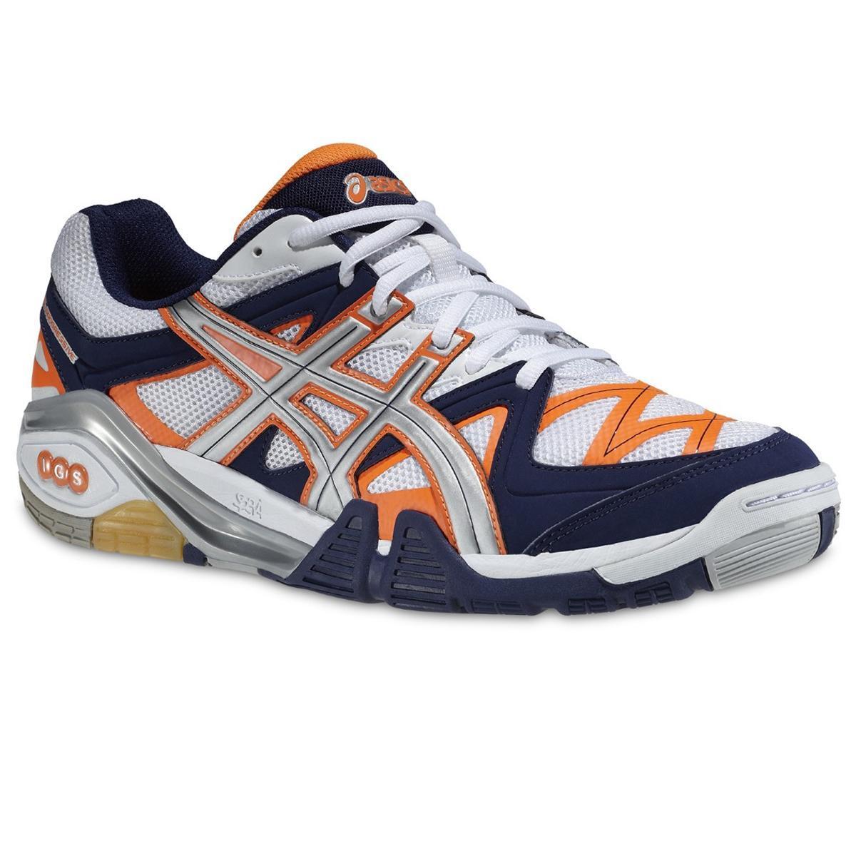 Asics Mens GEL Progressive 2 Indoor Squash Shoes WhiteOrange