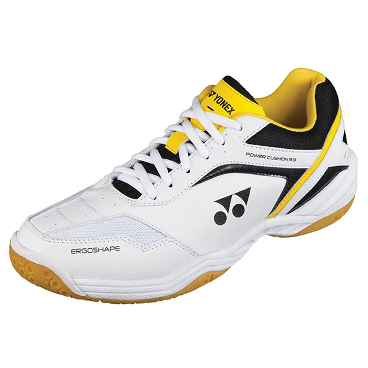 Yonex SHB 33EX Mens Badminton Shoes - White/Yellow