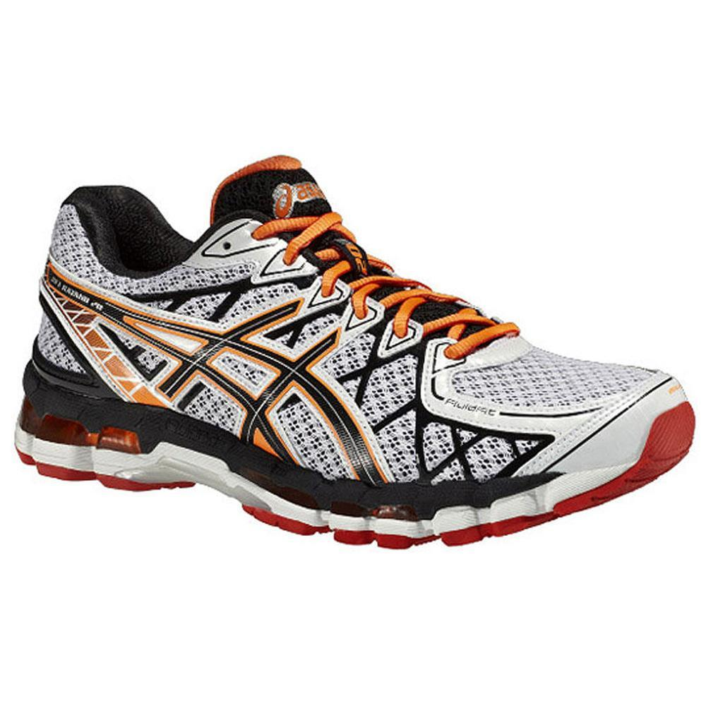 asics mens gel kayano 20 running shoes white onyx red. Black Bedroom Furniture Sets. Home Design Ideas