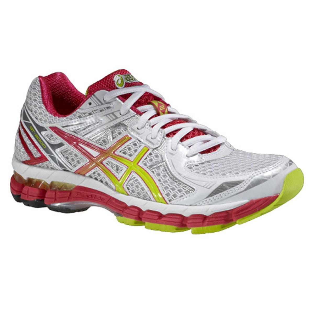 Asics Womens GT-2000 2 Running Shoes - White/Lime