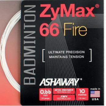 10m Ashaway ZyMax 66 Fire Badminton String 0.66mm Orange