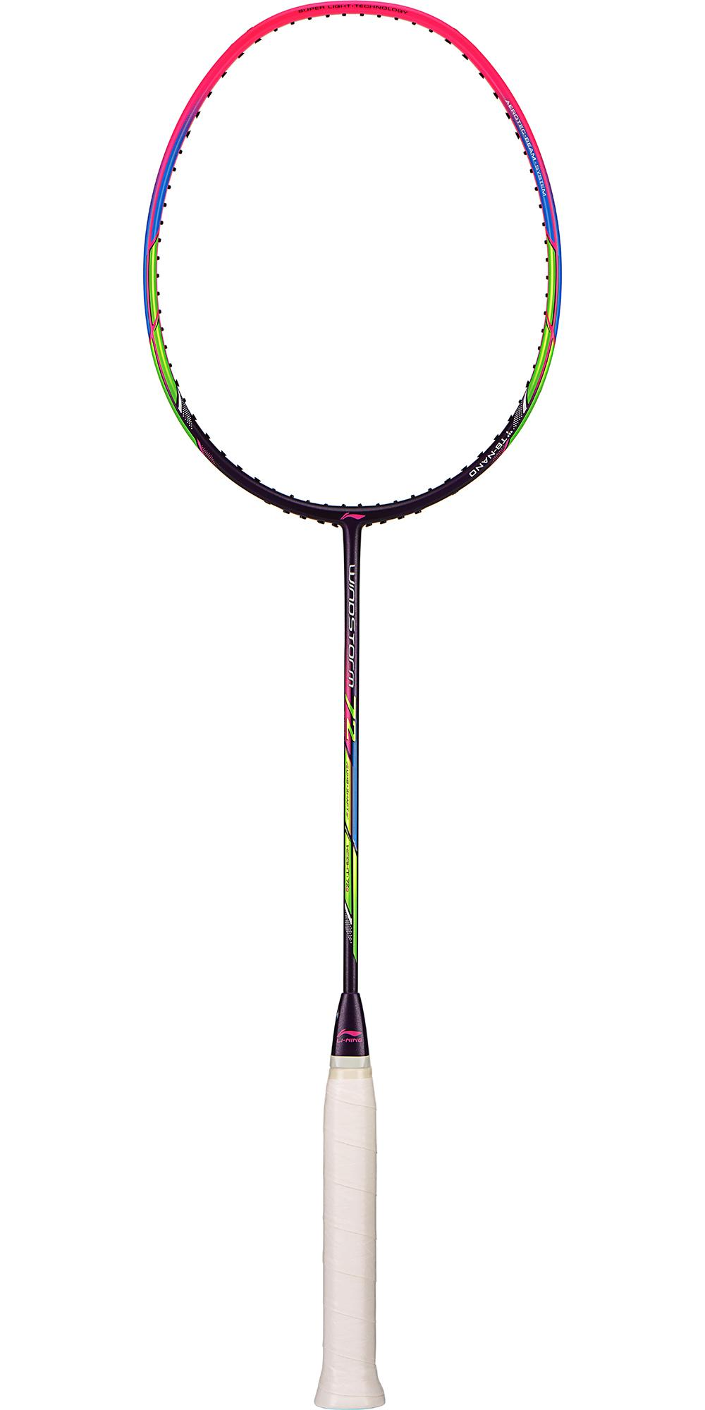li ning windstorm 72 badminton racket purple tennisnuts com
