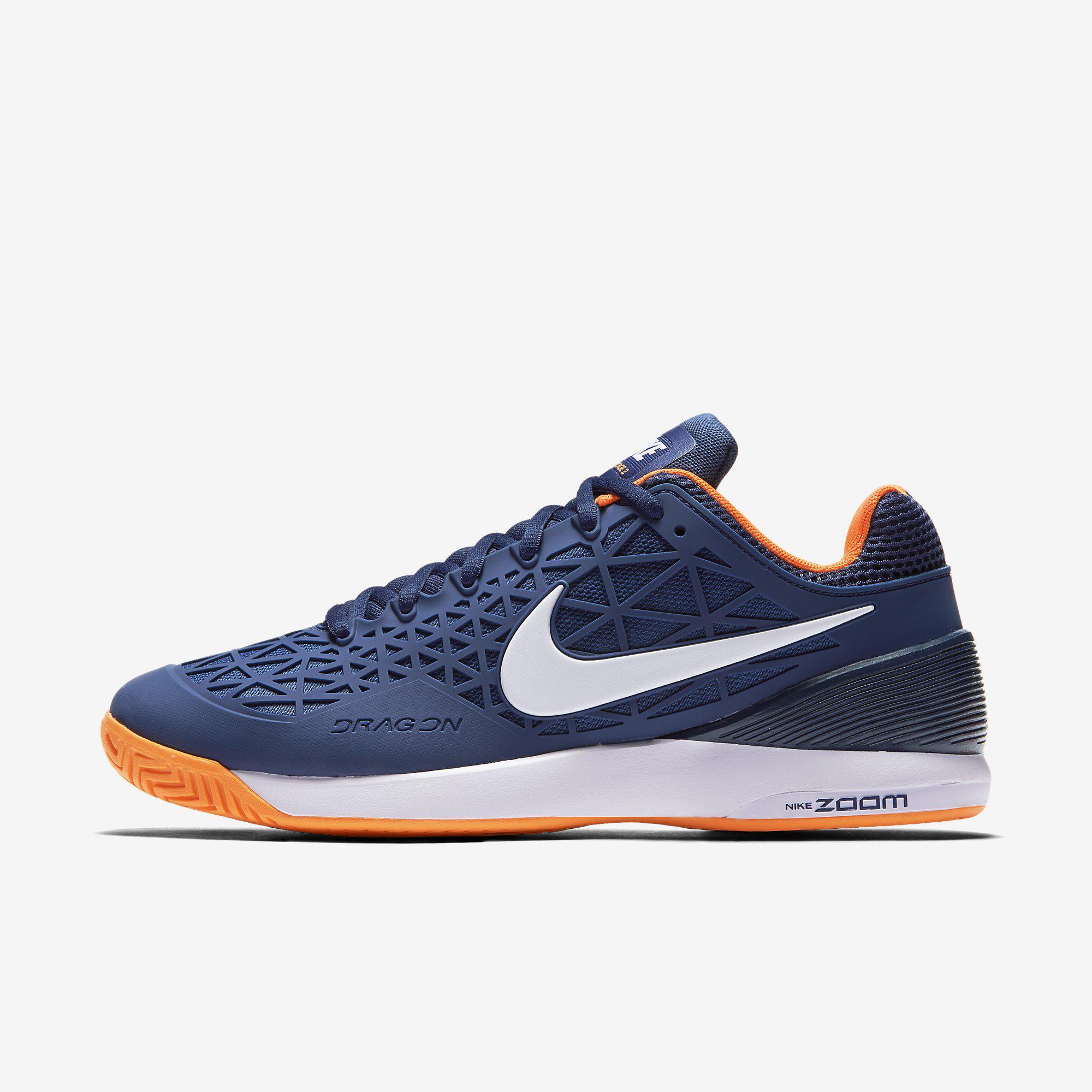 9cede0fc28b48 Nike Mens Zoom Cage 2 Tennis Shoes - Blue Citrus - Tennisnuts.com