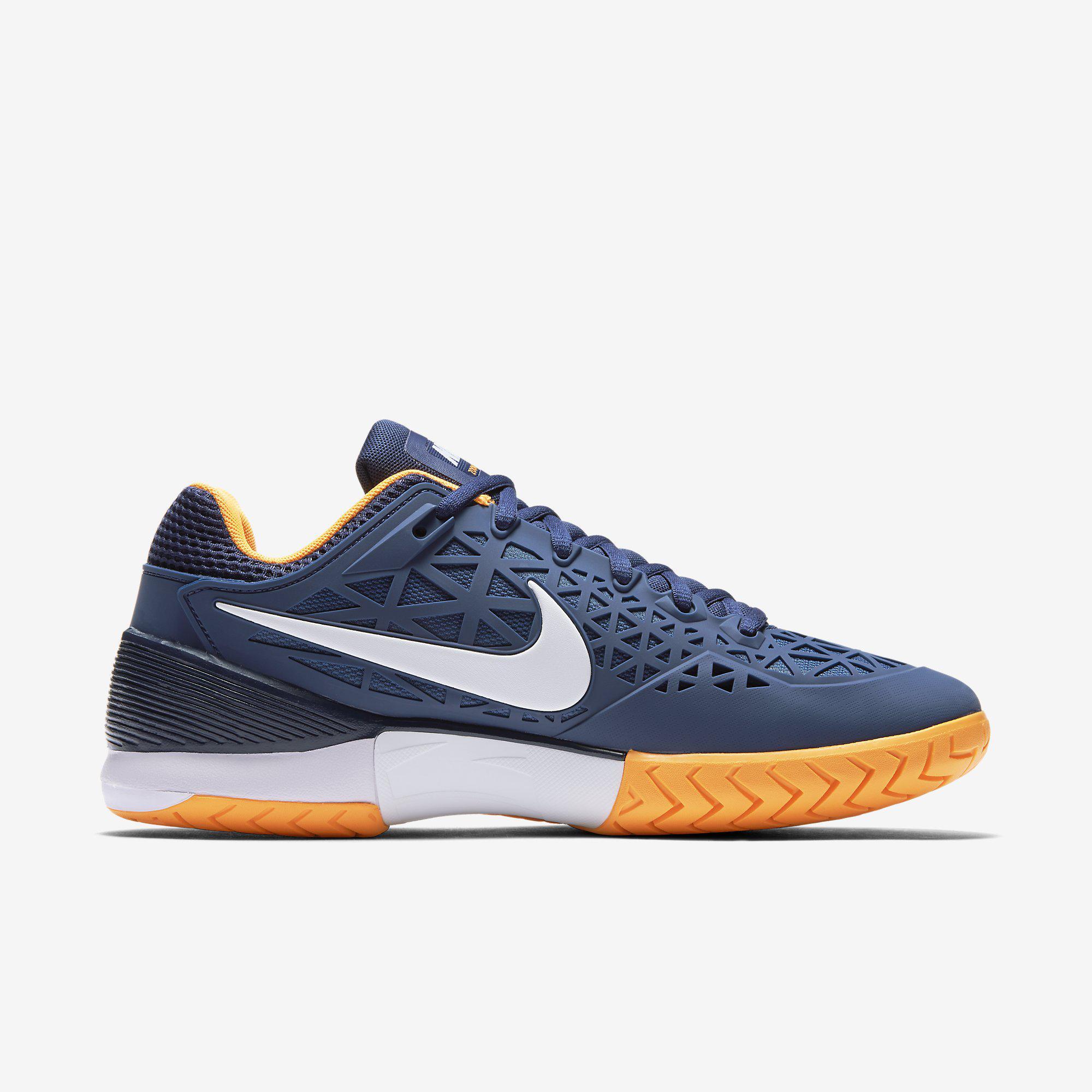 official photos e0a2c 811c6 Nike Mens Zoom Cage 2 Tennis Shoes - Blue Citrus