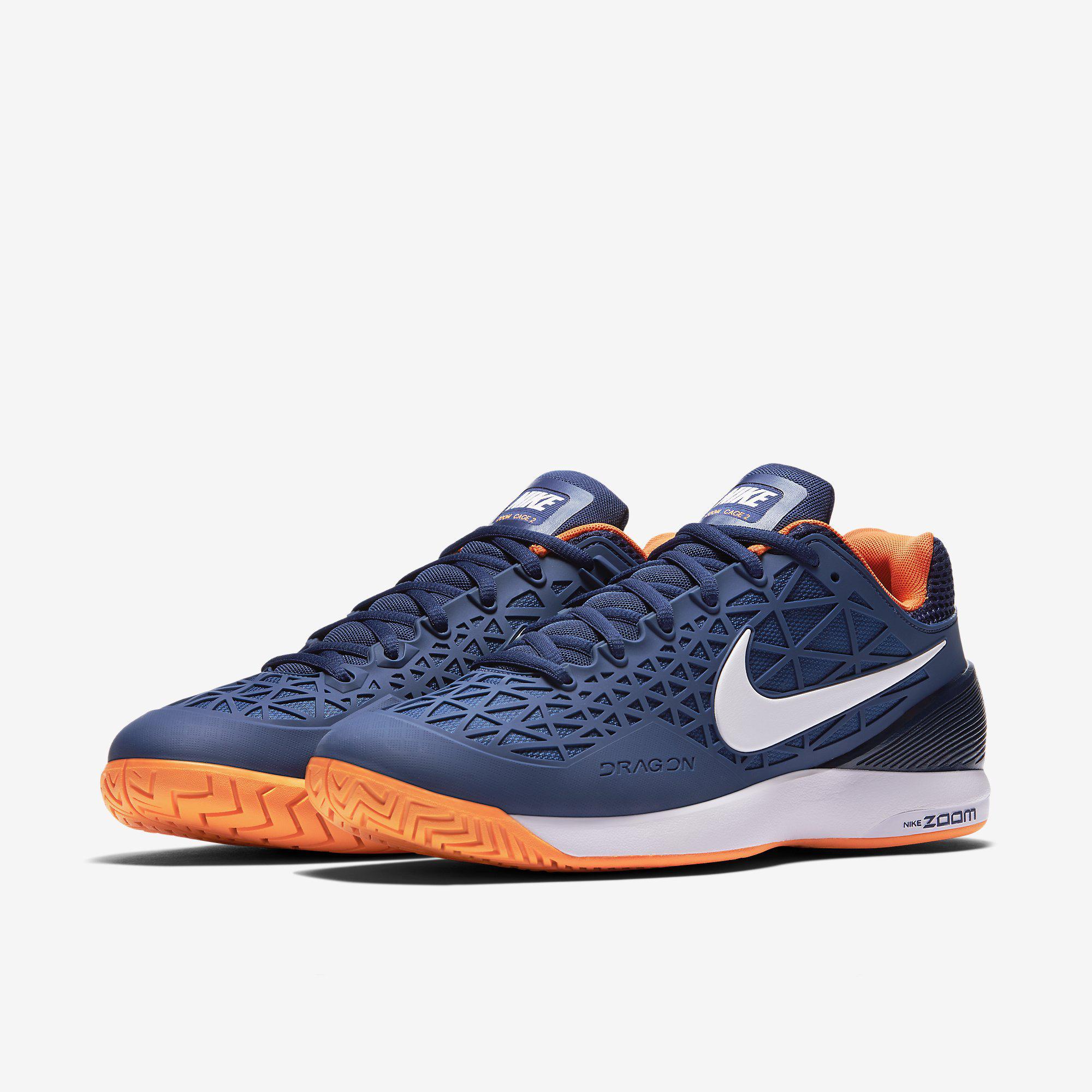 fa1586734a15 Nike Mens Zoom Cage 2 Tennis Shoes - Blue Citrus - Tennisnuts.com