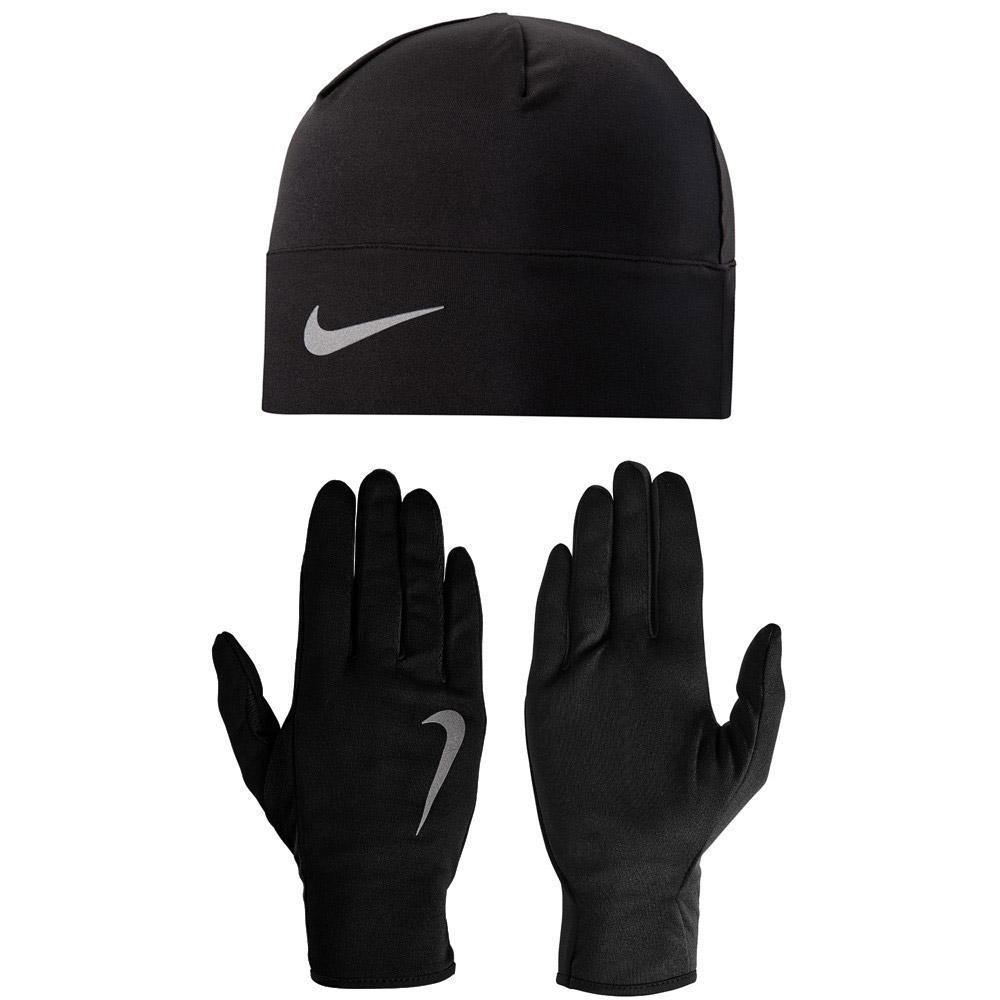 325bd0272 Nike Mens Dri-FIT Glove & Beanie Set - Black/Silver