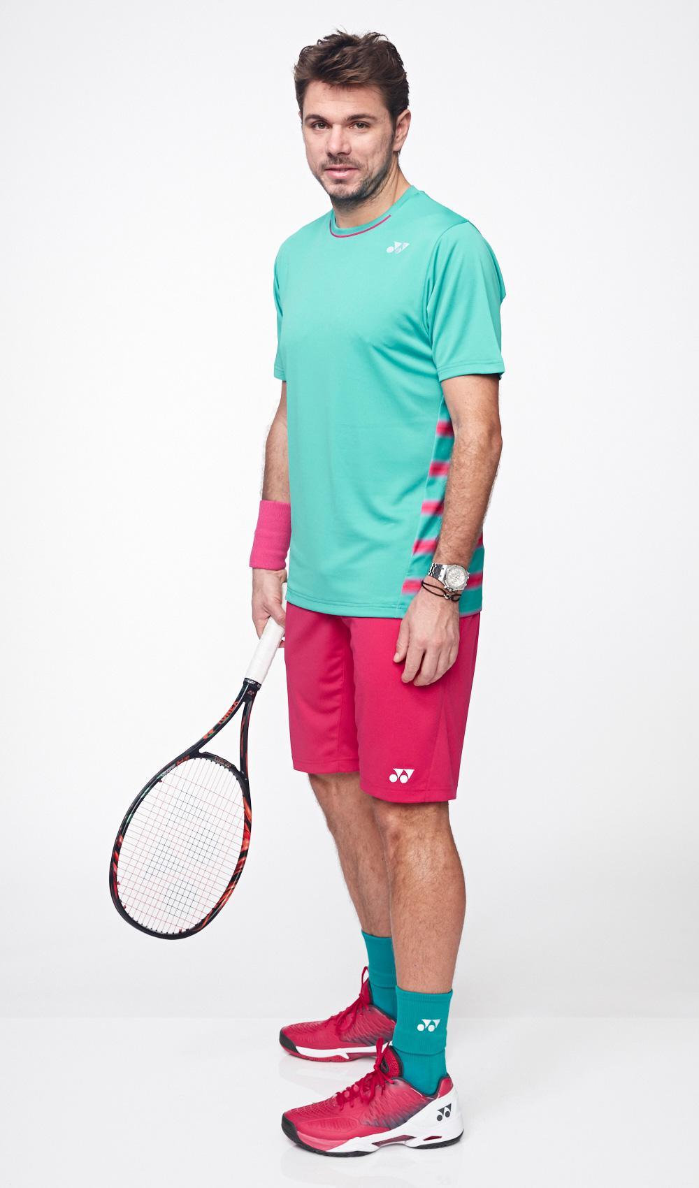 yonex mens 15054ex tennis shorts  dark pink  tennisnuts