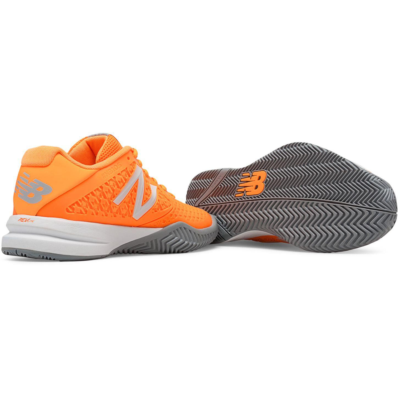 new balance womens 996v2 tennis shoes orange b
