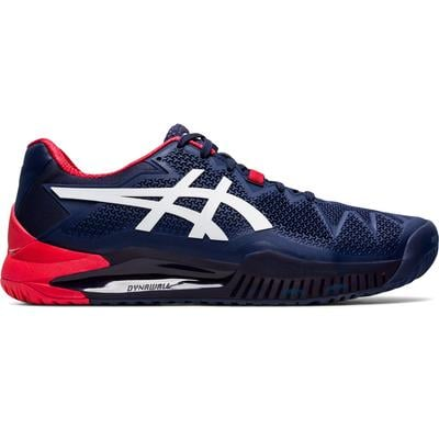Asics Mens GEL-Resolution 8 Tennis Shoes - Peacoat/White