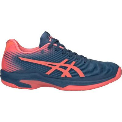Asics Womens Solution Speed FF Tennis Shoes - Grand Shark/Papaya