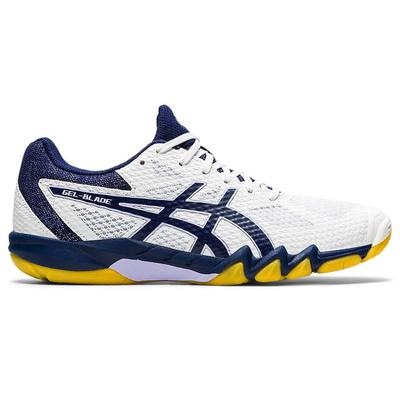 Asics Womens GEL-Blade 7 Indoor Court Shoes - White/Peacoat