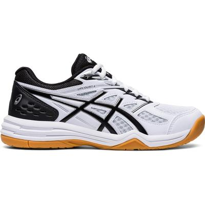 Asics Kids Upcourt 4 GS Indoor Court Shoes - White/Black