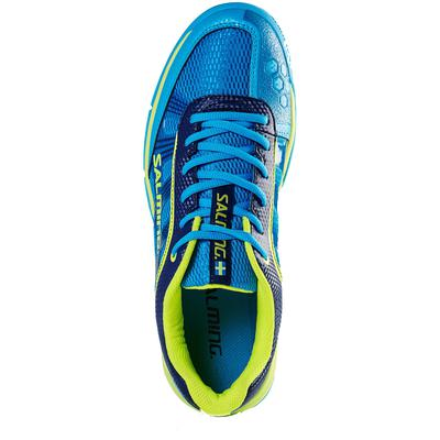 Salming Mens Adder Indoor Court Shoes - Cyan/Yellow