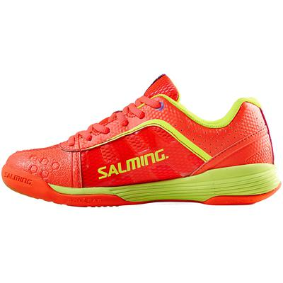 Salming Womens Adder Indoor Court Shoes - Diva Pink/Safety Yellow