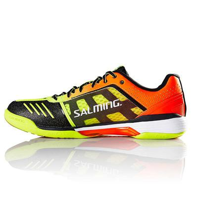 Salming Mens Viper 4 Indoor Court Shoes - Yellow/Orange