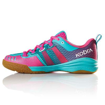 Salming Womens Kobra Indoor Court Shoes - Turquoise/Pink
