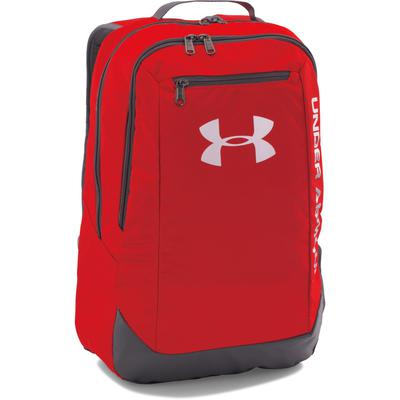 Under Armour Hustle Backpack - Red/Grey - Tennisnuts.com