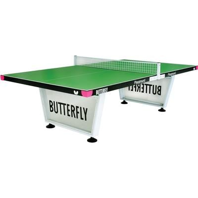 Butterfly Playground 12mm Outdoor Table Tennis Table - Green