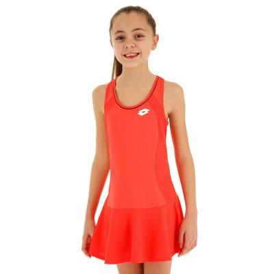 Lotto Girls Team Dress - Red Fluo