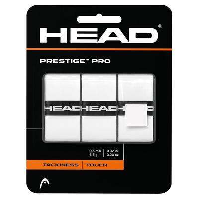 Head Prestige Pro Overgrips (Pack of 3) - White or Black
