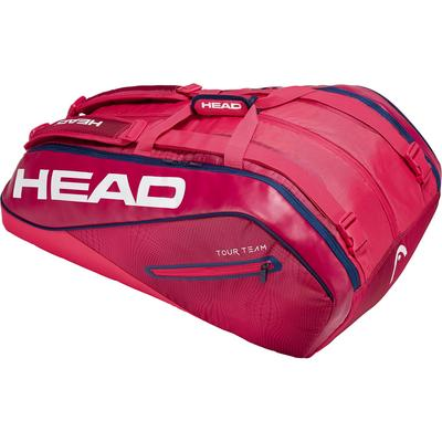 Head Tour Team Monstercombi 12 Racket Bag - Raspberry/Navy