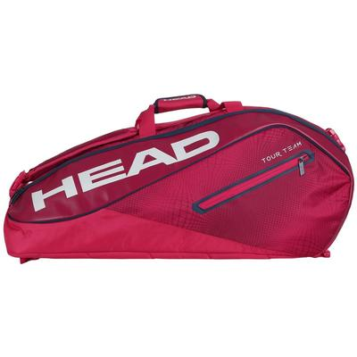 Head Tour Team Supercombi 9 Racket Bag - Raspberry/Navy