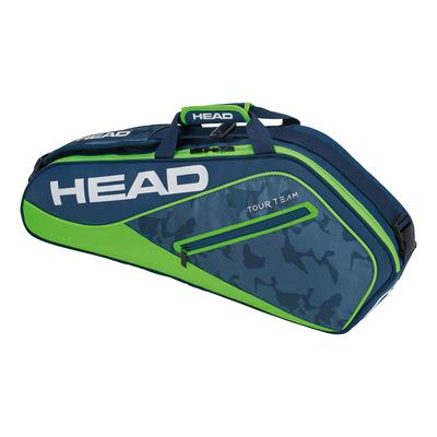 Head Tour Team 3 Racket Bag - Navy/Green