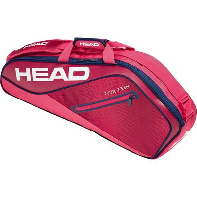 Head Tour Team Pro 3 Racket Bag - Raspberry/Navy