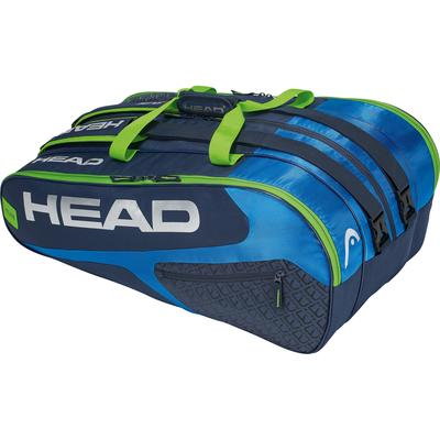 Head Elite Monstercombi 12 Racket Bag - Blue/Green