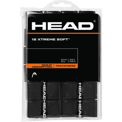 Head Xtreme Soft Overgrips (Pack of 12) - Black