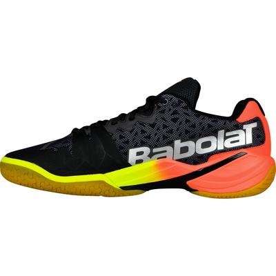 Babolat Mens Shadow Tour Badminton Shoes - Black/Coral/Yellow