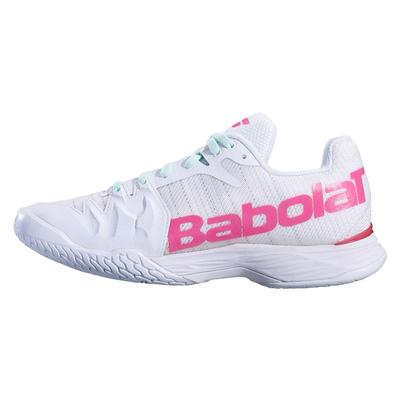 Babolat Womens Jet Mach II Tennis Shoes - White/Pink