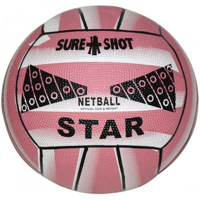 Sure Shot Star Netball - Pink (Choose Size)